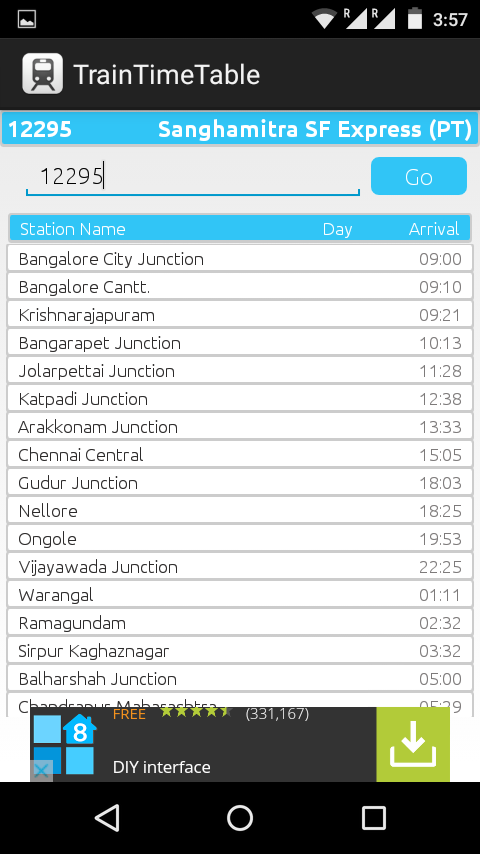 TrainTimeTable (Android App)